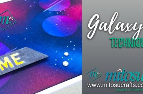 Genuine Gems Galaxy Technique Stampin' Up! Order from Mitosu Crafts Online Shop