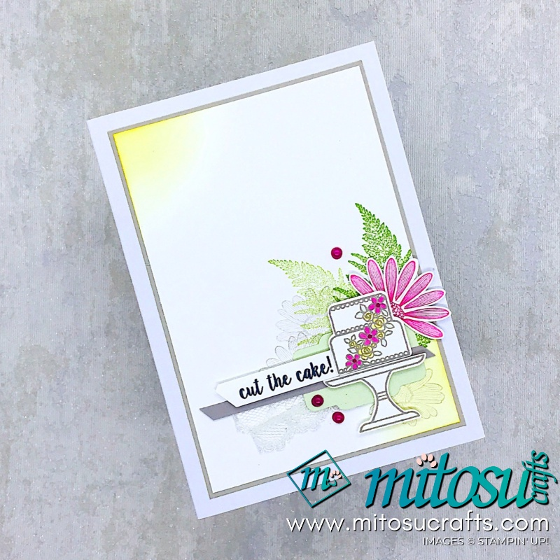 Piece of Cake Stampin' Up! Card Idea for Stamp Review Crew from Mitosu Crafts