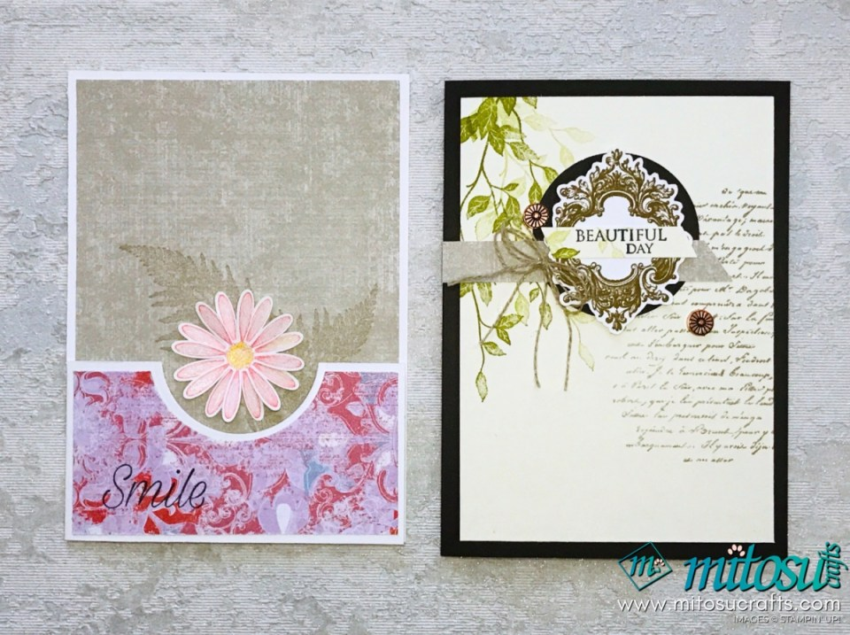 Daisy Lane & Very Versailles Stampin' Up! Card Inspirations from Mitosu Crafts Facebook Live