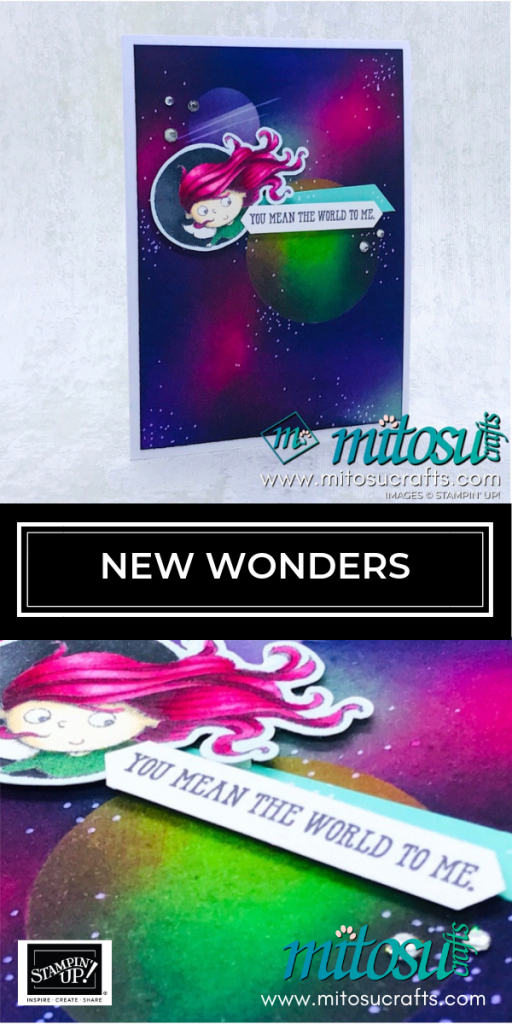 New Wonders Fairy by Stampin' Up! with Galaxy Background from Mitosu Crafts