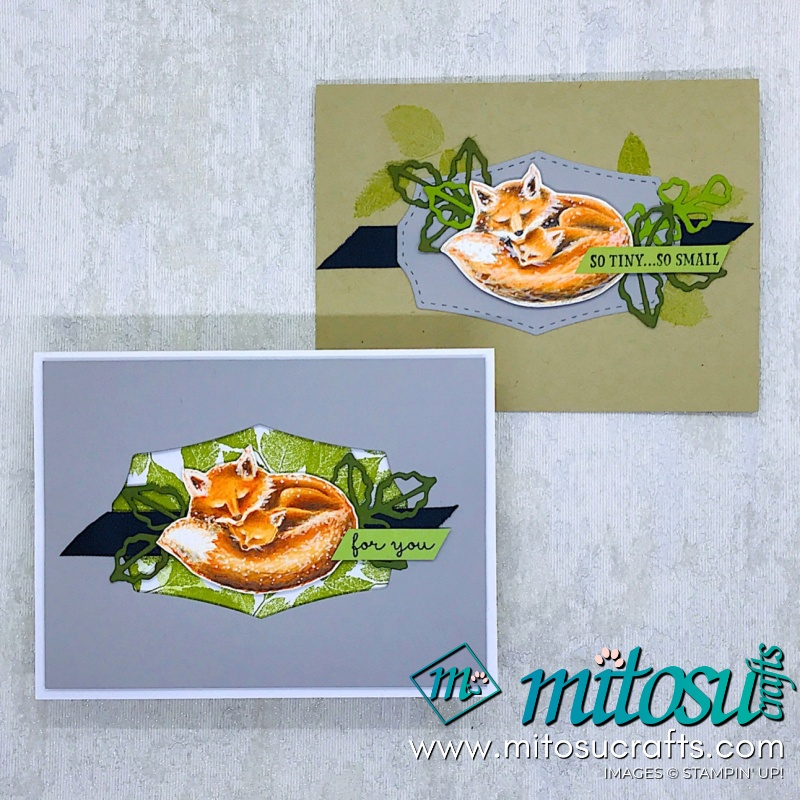 Wildly Happy Fox in Watercolor Pencils by Stampin' Up! Cardmaking video tutorial for Creating Kindness blog hop from Mitosu Crafts