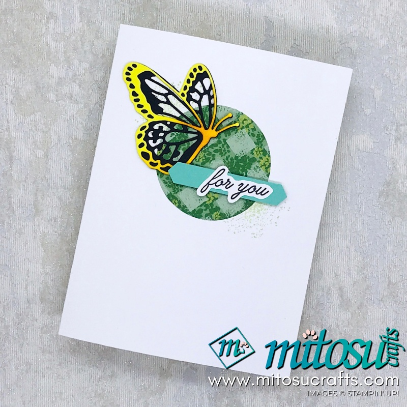Spinner Pop Up Wiper Card with Butterfly Beauty by Stampin' Up! including video tutorial from Mitosu Crafts