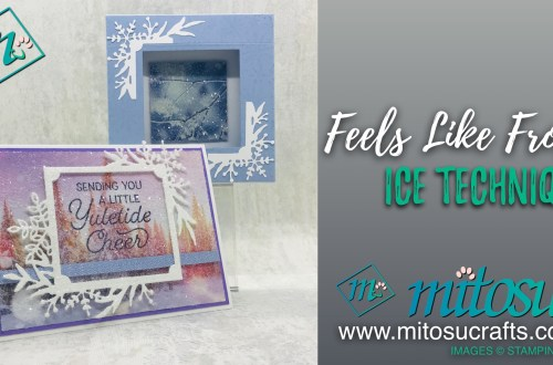 Feels Like Frost Iced Technique Card & Box Frame from Mitosu Crafts-