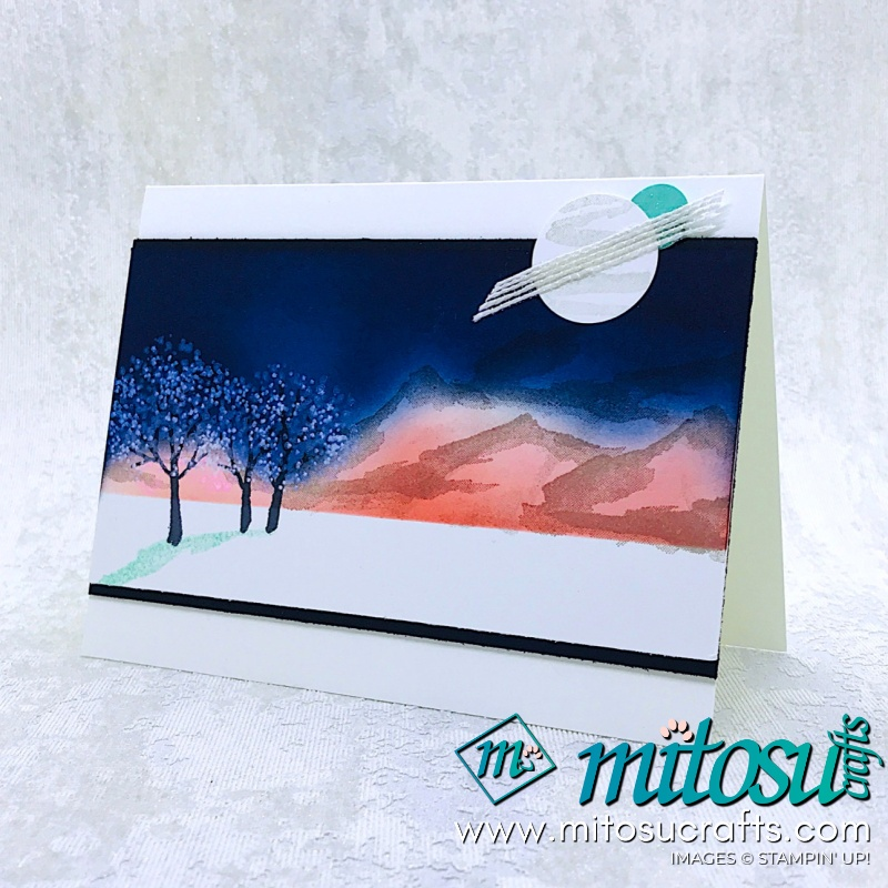 Snow Front Scenes Stampin' Up! Card Idea from Mitosu Crafts