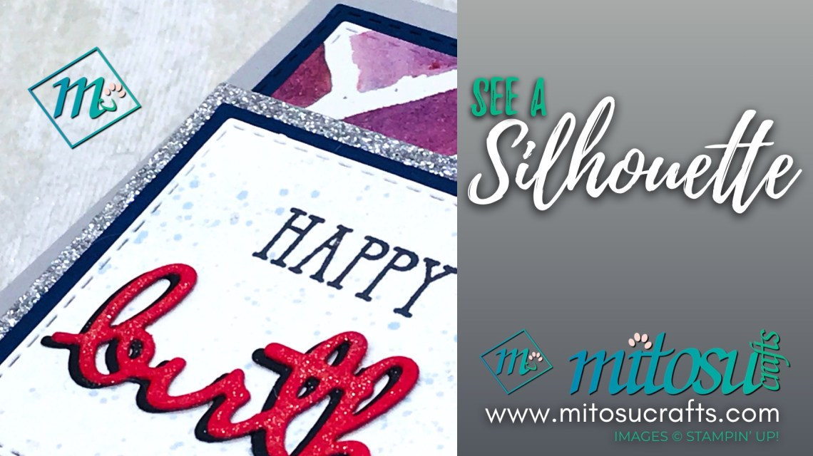 Stampin Up! See A Silhouette Slider Card & Gift Box Ideas for The Gentlemen Crafters Design Team Hop from Mitosu Crafts