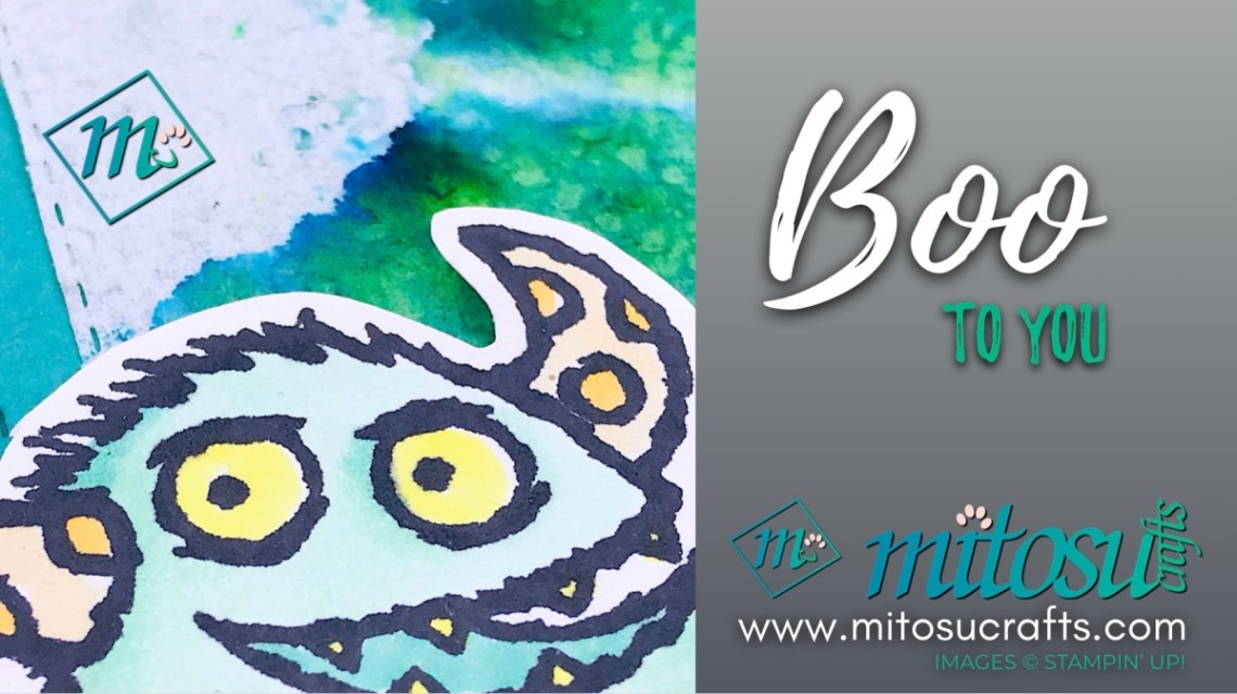 Boo To You with Pigment Sprinkle Background Stampin Up! Card Idea from Mitosu Crafts