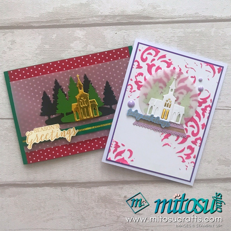 Still Scenes Stamp Set with the Snow Globe Dies mixed with the new BASIC PATTERN DECORATIVE MASKS