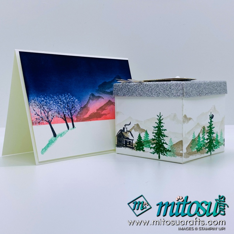 Snow Front Box & Card from Mitosu Crafts