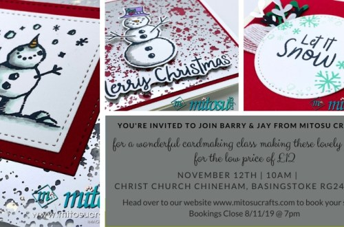 card making classes in Basingstoke with Mitosu Crafts