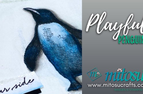 Playful Penguins Stampin Up! Card for Paper Craft Crew from Mitosu Crafts