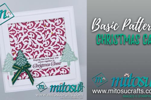 Basic Pattern Christmas Card handmade by Mitosu Crafts