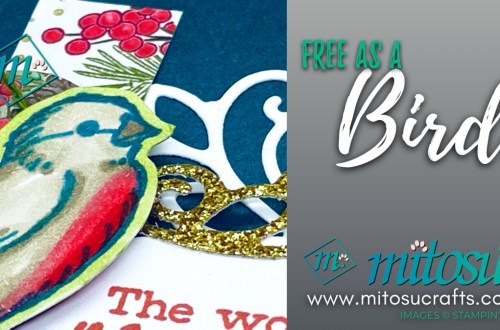 Free As A Bird Stampin Up! Card Inspiration for Paper Craft Crew Sketch from Mitosu Crafts