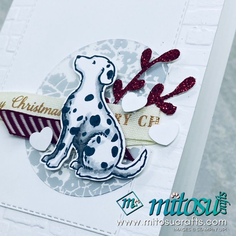 Happy Tails Stampin Up! Christmas Card for Stamp Review Crew from Mitosu Crafts