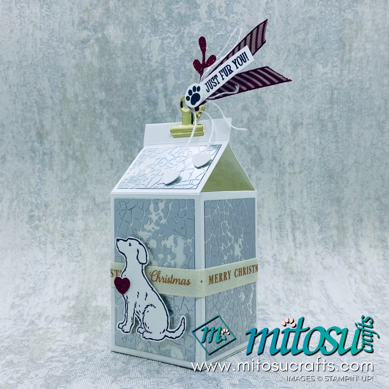 Happy Tails Stampin Up! Milk Box for Stamp Review Crew from Mitosu Crafts
