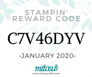Stampin Reward Code with Mitosu Crafts