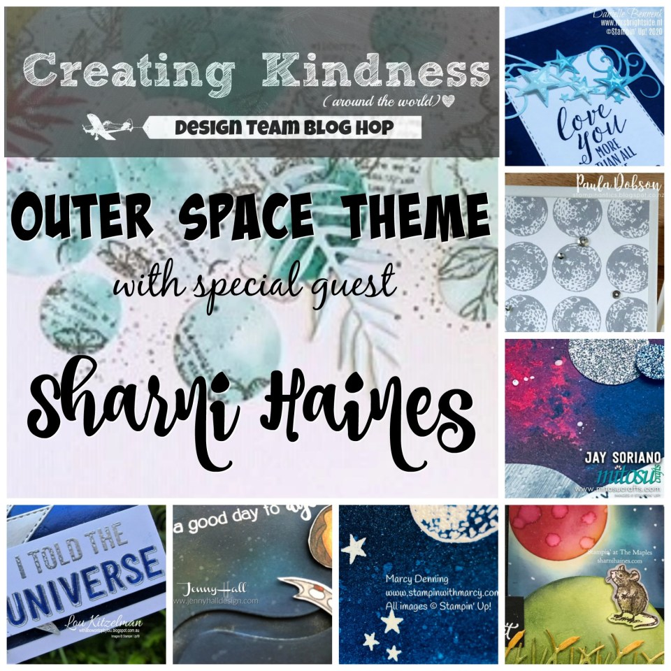 Creating Kindness Design Team Blog Hop with Outer Space Theme. Cardmaking and Papercraft Ideas from Mitosu Crafts
