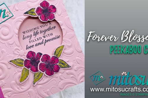 Forever Blossoms Peekaboo Card Fancy Fold from Mitosu Crafts