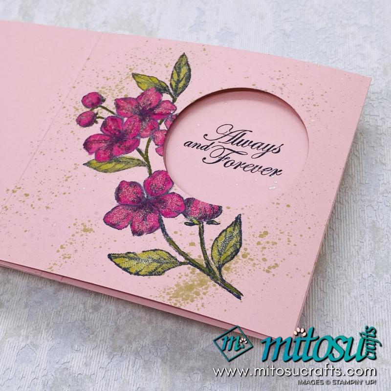 Peekaboo Card Fancy Fold from Mitosu Crafts