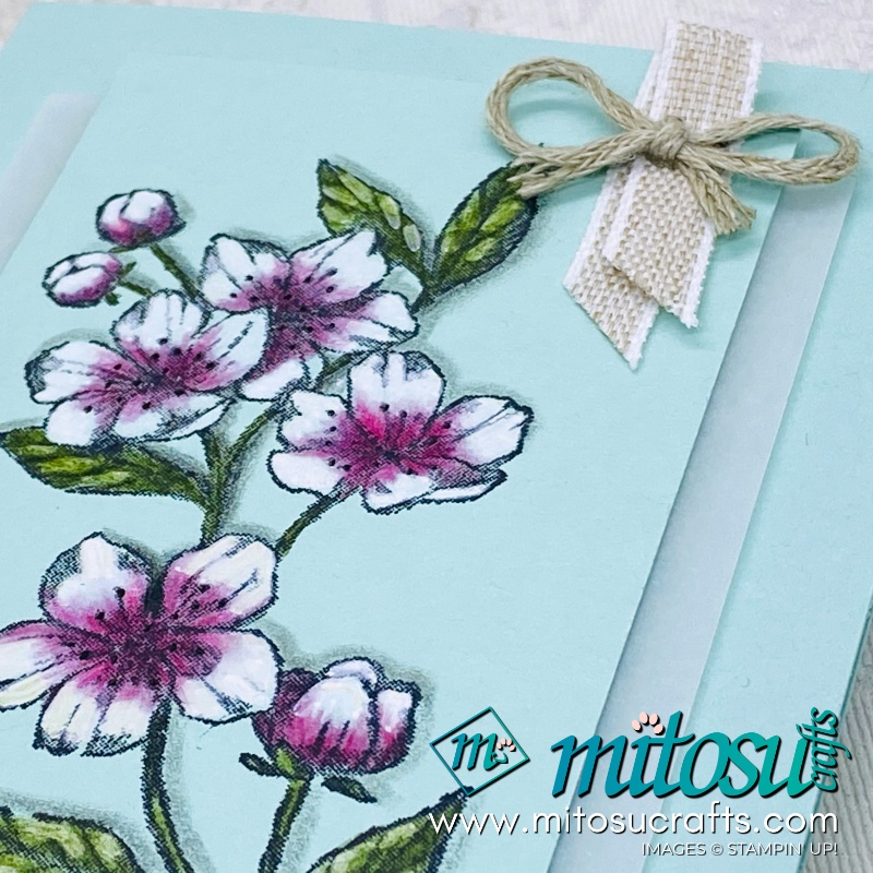Colouring Forever Blossoms with Label Me Bold Stampin Up Card Idea for Stamp Review Crew from Mitosu Crafts