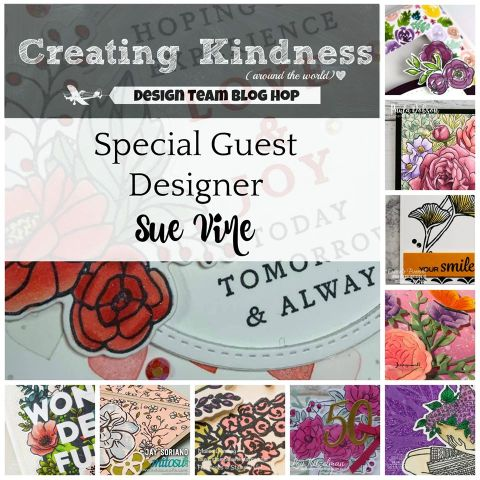 Creating Kindness Blog and Video Hop with Sue Vine. Order Stampin Up products online from Mitosu Crafts