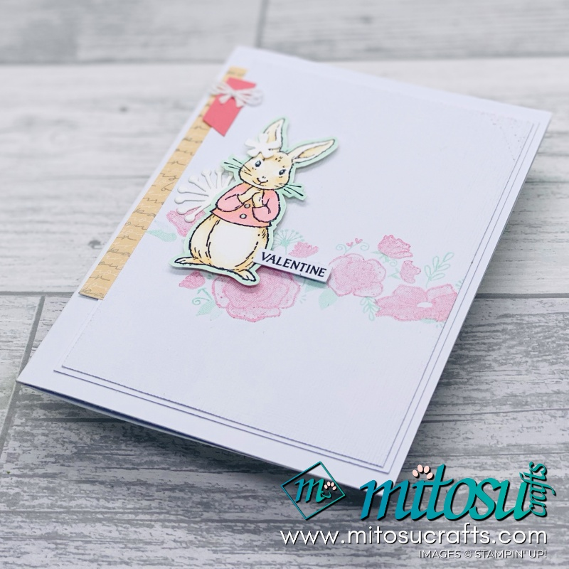 Fable Friends Stampin Up Valentines Card Idea for Paper Craft Crew. Order card making products online from Mitosu Crafts