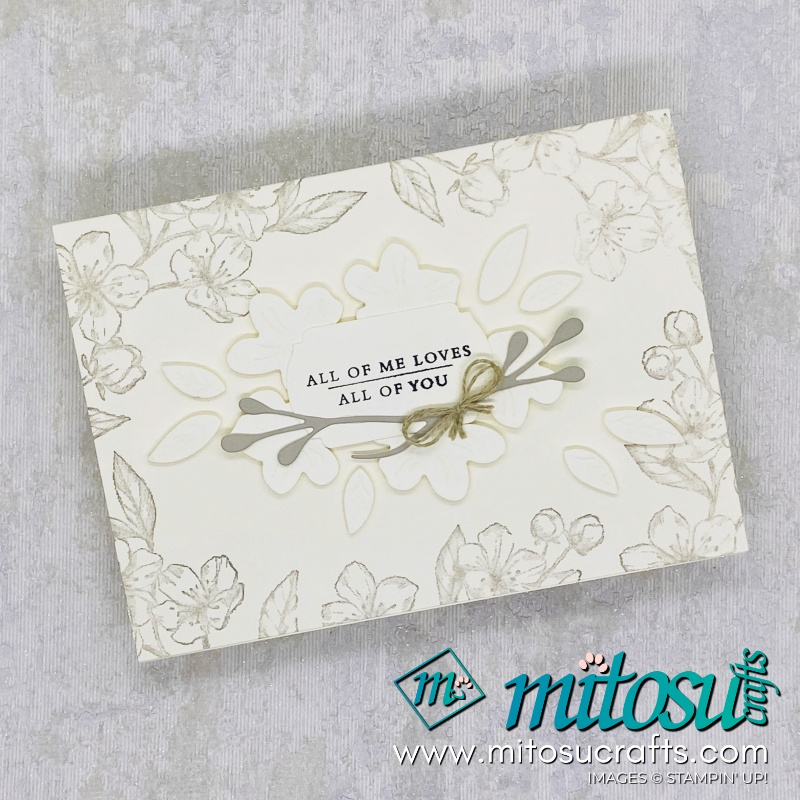 Forever Blossoms and Cherry Blossoms Dies Bundle Stampin Up Card Idea for Stamp Review Crew from Mitosu Crafts 1