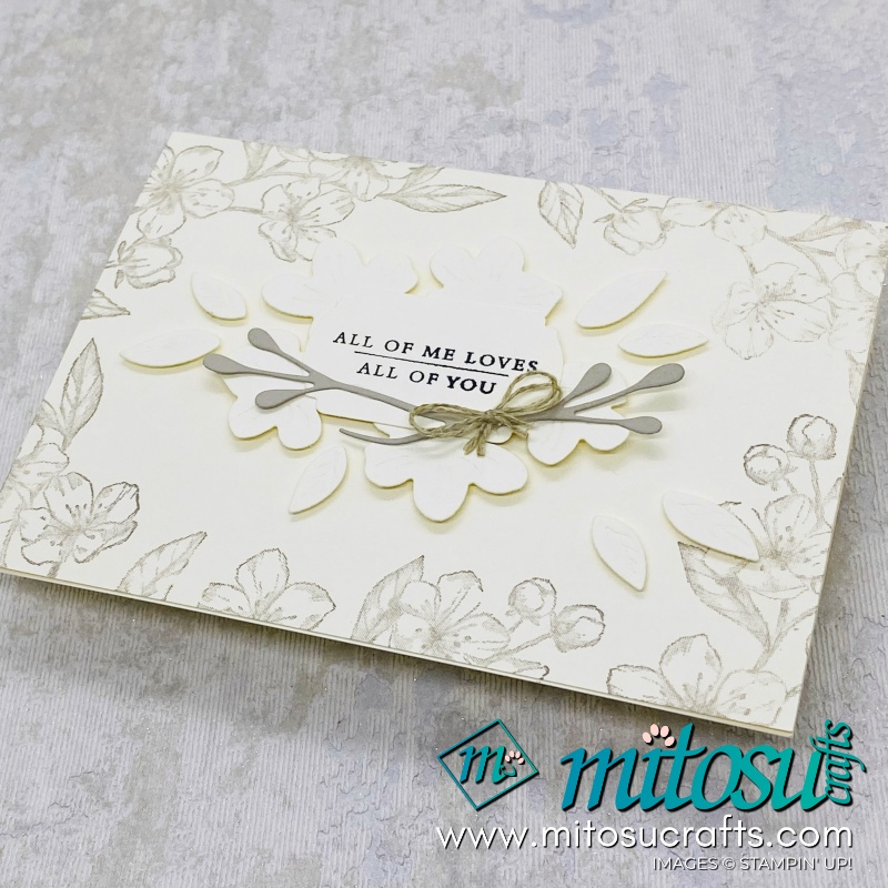 Forever Blossoms and Cherry Blossoms Dies Bundle Stampin Up Card Idea for Stamp Review Crew from Mitosu Crafts