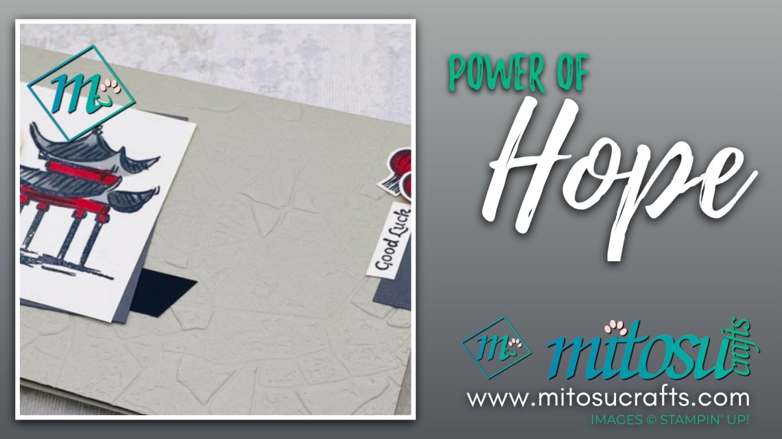 Power Of Hope Stampin Up card idea for Paper Craft Crew card sketch from Mitosu Crafts