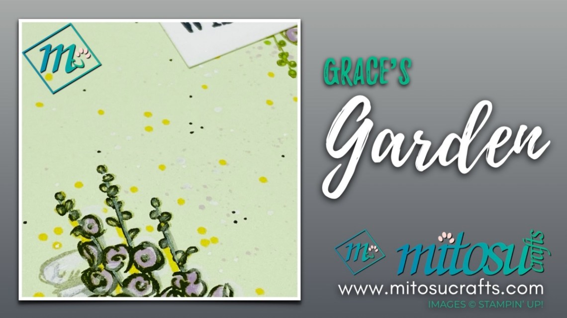 Grace's Garden Card Idea for The Spot Creative Challenge from Mitosu Crafts UK