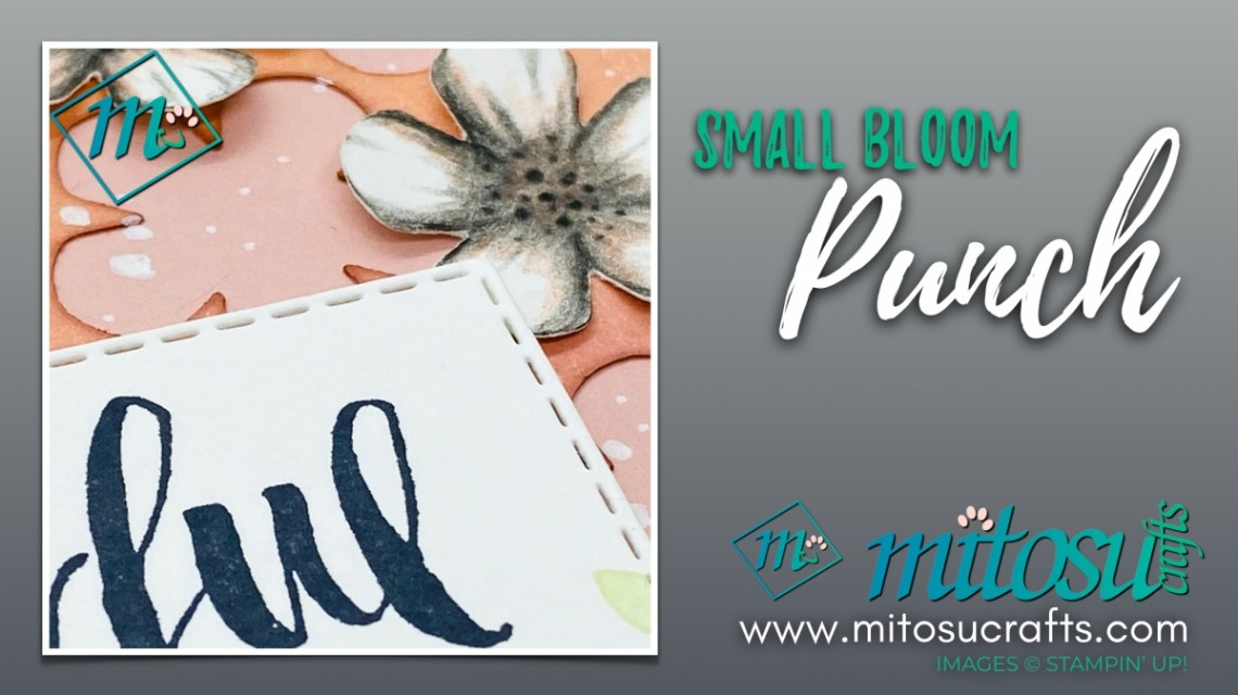 Small Bloom Punch with Rooted In Nature Card Idea for The Spot Creative Challenge from Mitosu Crafts UK