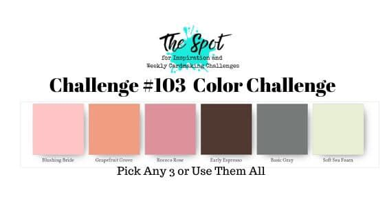 The Spot Creative Challenge #thespotchallenge103 Colour Inspiration for cardmaking and papercraft from Mitosu Crafts UK