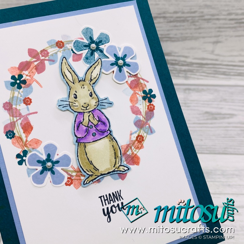 Thoughtful Blooms with Fable Friends Easter Wreath Card Idea from Mitosu Crafts UK
