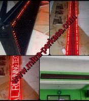 harga jual Runningtext merah 22 x 230cm murah