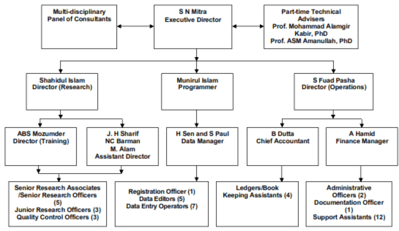 Organogram of Mitra and Associates to learn about its hierarchy