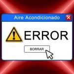 Error aire acondicionado