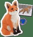 Papercraft imprimible y armable de un zorro / fox. Manualidades a Raudales.