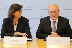 Foto Ilse Aigner und Dr. Otto Beierl (Foto: Lfa Förderbank Bayern)