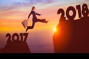 Geschäftserwartungen im neuen Jahr 2018 Foto