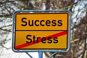 Schild Stress bewältigen Foto