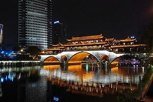 Wirtschaftsbeziehungen China Bild Chengdu Anshun Bridge