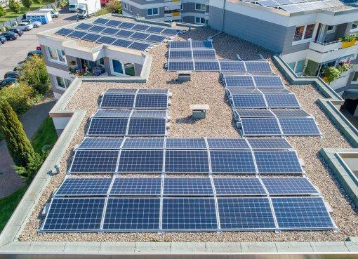 Photovoltaik-Pflicht Foto Solarzellen Dach