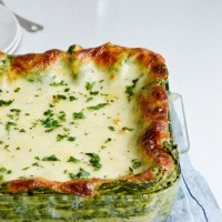 Easy creamed spinach lasagna