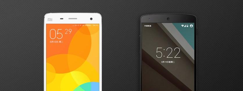 MIUI 6 vs Android L