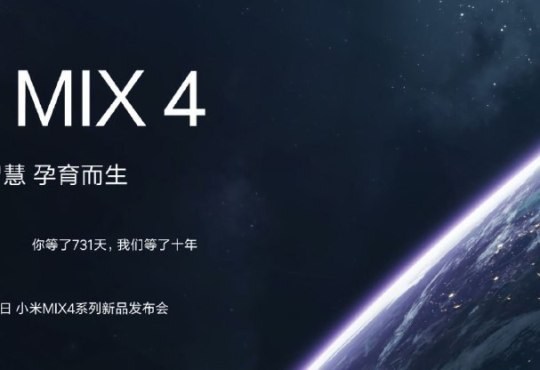 Xiaomi Mi MIX 4 poster presentazione