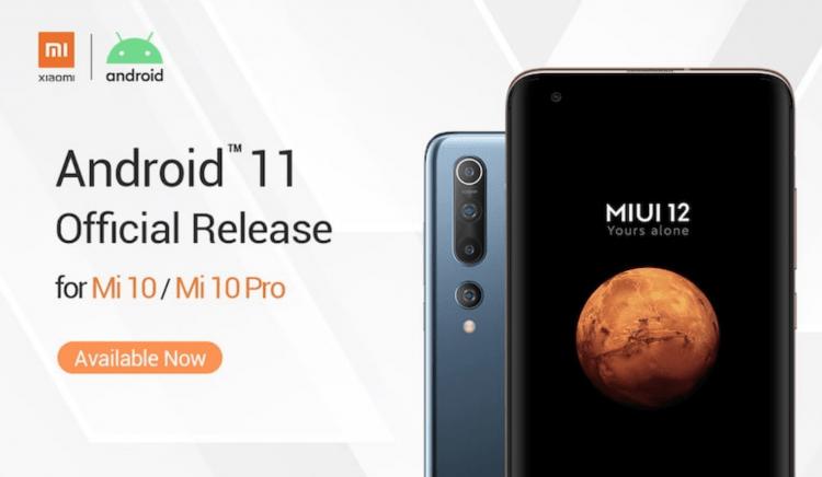 Android 11 Xiaomi Mi 10 Mi 10 Pro