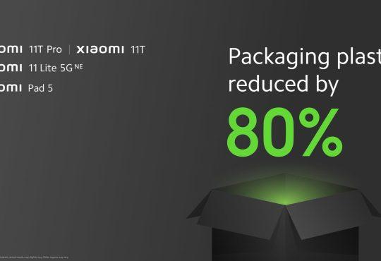 Xiaomi riduzione plastica confezioni smartphone