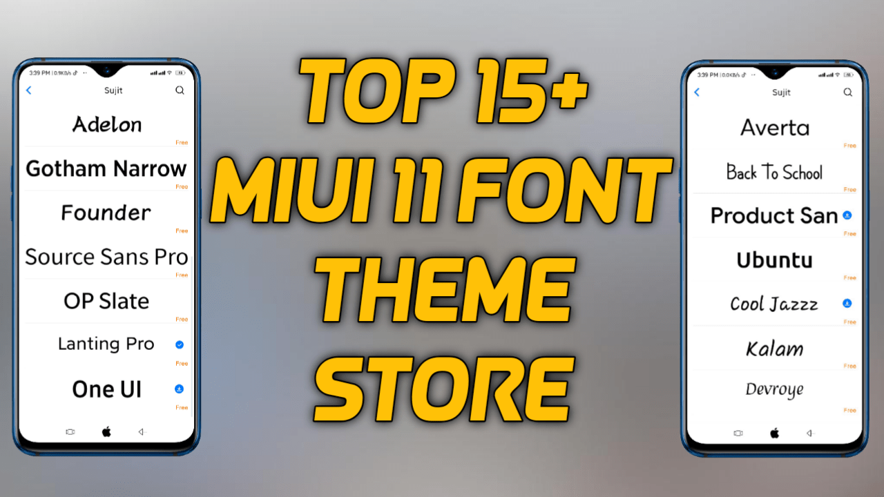 15 Miui 11 Font On Miui Theme Store Download Now Miui