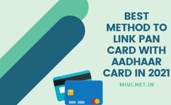 best method to link pan card with aadhaar card in 2021