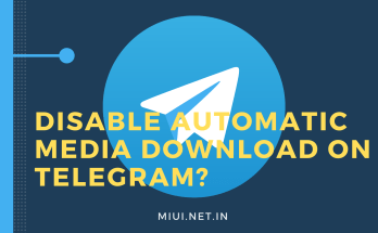 Disable Automatic Media Download on Telegram