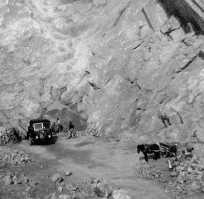 Cava del Monticino, anni 50